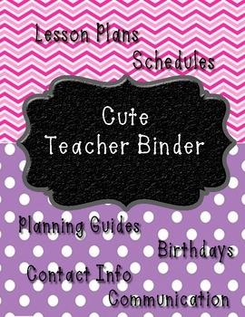 Cute Teacher Binder