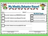 Cute Teacher Friendly Weekly Behavior Report