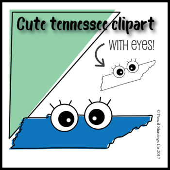 Cute Tennessee Clipart with Eyes!