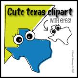 Cute Texas Clipart with Eyes!