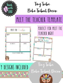 Tiny Tribe Cute 'Meet the Teacher' Editable Template
