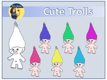 Cute Trolls Clip Art