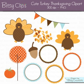 Cute Turkey Thanksgiving Clipart Commercial Use Clip Art
