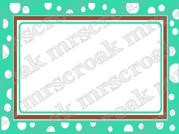 Labels: Turquoise & Brown polka dots, 10 per page