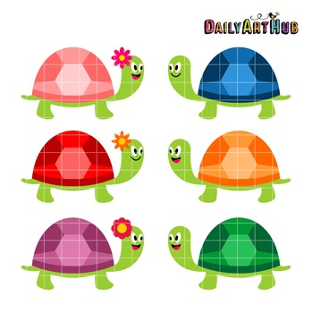 Cute Turtles Clip Art - Great for Art Class Projects!