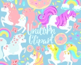 Cute Unicorn Clipart Set For Personal And Commercial Use