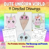 Cute Unicorn World Directed Drawing - Commercial Use Allowed