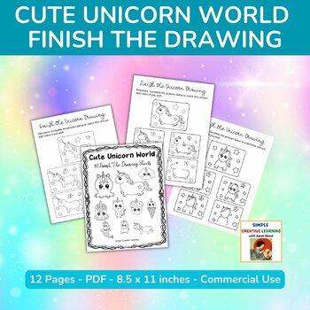 Cute Unicorn World Finish The Drawing