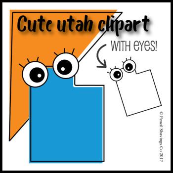 Cute Utah Clipart with Eyes!