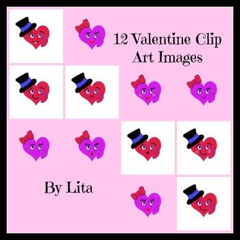 Cute Valentine Heart Faces