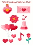 Cute Valentines Day Card Cut Outs
