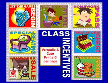 Cute & Versatile Classroom Incentive Coupons