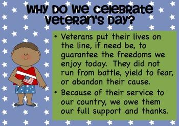 Cute Veterans Day Powerpoint by Kindergarten Kids At Play ...