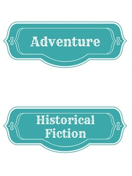 Cute Vintage Library Signs for Organizing Classroom or Library