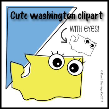 Cute Washington Clipart with Eyes!