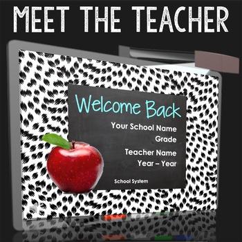 Cute Welcome Back to School Presentation - Meet the teache
