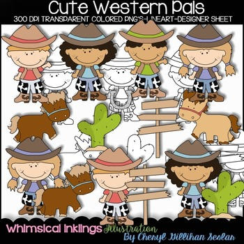 Cute Western Pals Clipart Collection