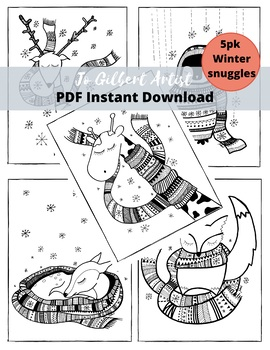 Winter Animal Coloring Pages Worksheets Teaching Resources Tpt