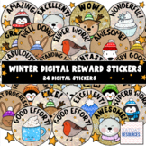 Cute Winter Animals Digital Stickers For See Saw and Googl