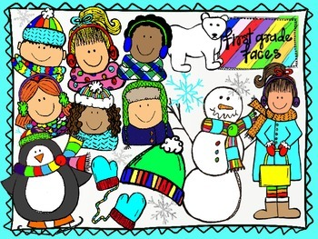 Cute Winter Clipart Set