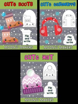 Cute Winter Clothing - Bundle of Moonju Makers, Crafts, Decor, Writing Activity