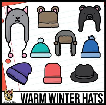Cute Winter Hats Clip Art Freebie!