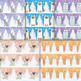 Cute Winter Pet Digital Paper - 10 Handmade White Christma