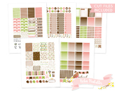 Cute Woodland Animals Printable Weekly Planner Stickers fits Erin Condren