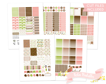 graphic about Cute Weekly Planners referred to as Lovable Woodland Pets Printable Weekly Planner Stickers suits Erin Condren