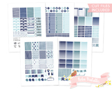 Navy Blue Printable Weekly Planner Stickers fits Erin Condren
