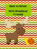 Cute Woodland Friends Name Tags and Binder Cover Freebie!