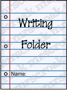 Labels: Writing Folder design, 10 per page