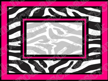 Labels: Zebra with hot pink, 10 per page