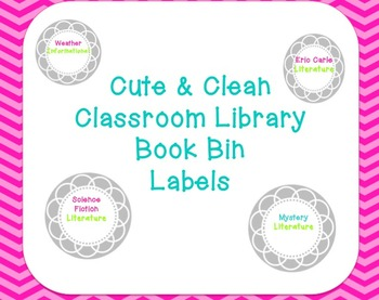 Cute and Clean Library Book Labels