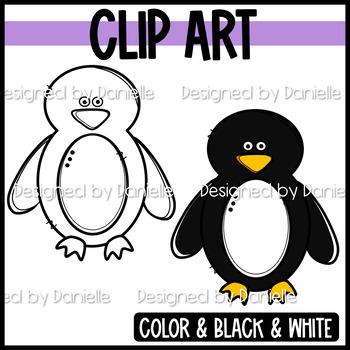 Cute and Coloful Penguin Clip Art