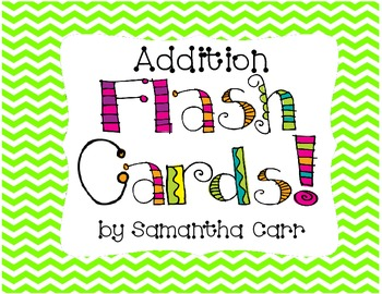 Cute and Colorful Addition Flash Cards!