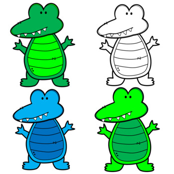 Cute and Colorful Alligator Clipart