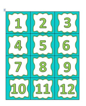 Cute and Colorful Calendar Numbers