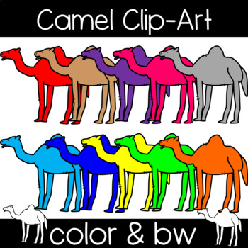 Cute and Colorful Camel Clipart