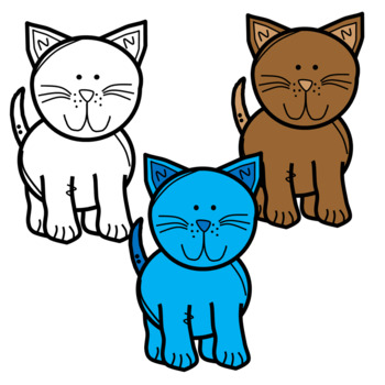 Cute and Colorful Cat Clip Art!