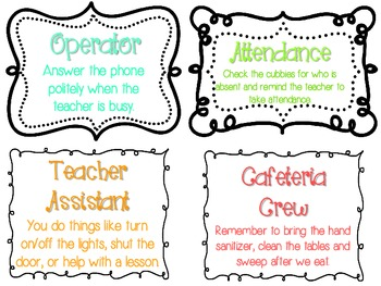 Cute and Colorful Classroom Charts