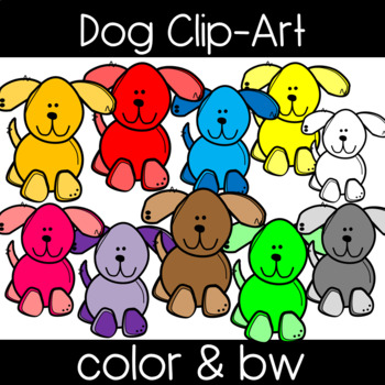 Cute and Colorful Dog Clip Art