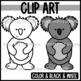Cute and Colorful Koala Bear Clipart!