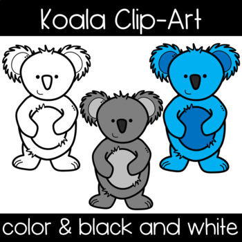 Cute and Colorful Koala Bear Clipart!