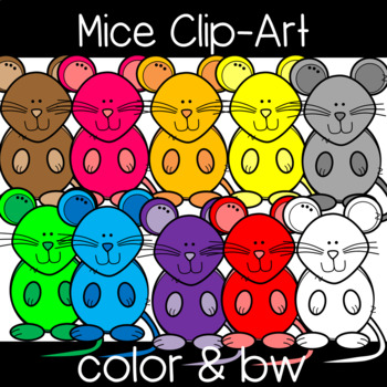 Cute and Colorful Mouse Clip Art