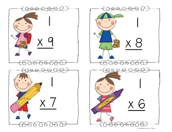 Cute and Colorful Multiplication Flash Cards!