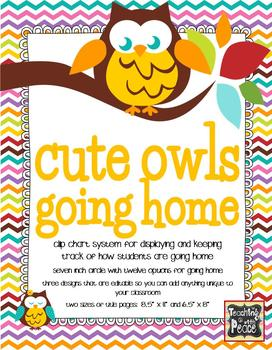 Cute and Colorful Owls Going Home *clip chart system*