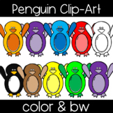 Cute and Colorful Penguin Clip Art