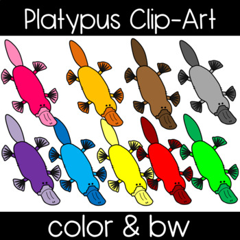 Cute and Colorful Platypus Clipart