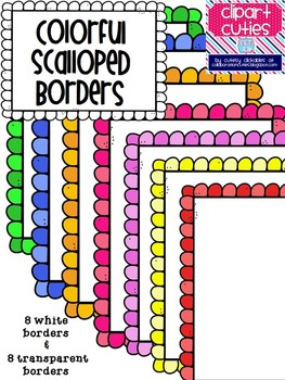 Cute and Colorful Scalloped Borders